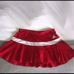 Red Adidas tennis skirt